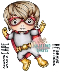 Super Hero Luka Rubber Stamp