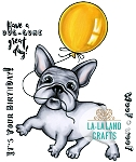 Balloon Frenchie Digi Stamp