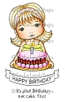 Birthday Cake Molli Digi Stamp