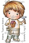 Building Birdhouse Luka Rubber Stamp