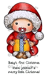 Christmas Baby Rubber Stamp
