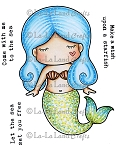 Paper Doll Marci - Mermaid Rubber Stamp