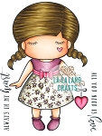 Paper Doll Marci - Love - Rubber Stamp