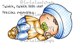 Sleeping Baby Luka Rubber Stamp