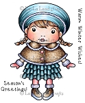 Winter Wishes Marci Rubber Stamp