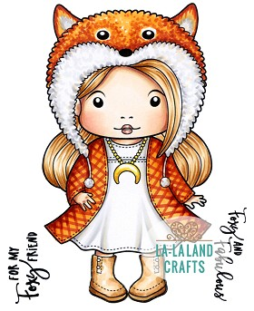Foxy Marci Rubber Stamp