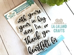 Filler Words - Cursive Clear Stamp Set