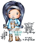 Coffee Break Marci Digi Stamp