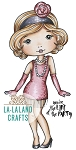 Flapper Molli Rubber Stamp
