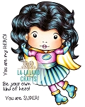 Super Hero Marci Digi Stamp