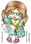 Marci with Books Digi Stamp