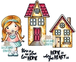 No Place Like Home Rubber Stamp