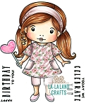 Marci with Heart Balloon Digi Stamp