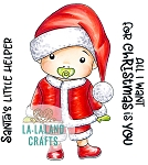 Santa's Helper Baby Luka Rubber Stamp