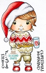 Cookies for Santa Luka Rubber Stamp