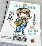 Luka with Guitar Rubber Stamp