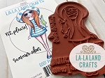 Vacation Mona Rubber Stamp