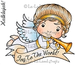 Angel Luka with Horn Rubber Stamp