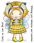 Bumble Bee Marci Rubber Stamp
