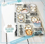 Eat More Cake Clear Stamp Set