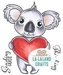 Koala with Heart  Digi Stamp