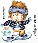 Luka on Snowboard Digi Stamp