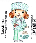 Nurse Marci in Scrubs Digi Stamp