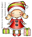 Paper Doll Marci - Christmas Elf Rubber Stamp