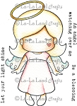 Paper Doll Marci - Angel Rubber Stamp