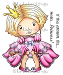 Sitting Princess Marci Rubber Stamp
