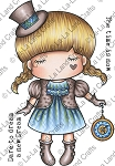 Paper Doll Marci - Steampunk Rubber Stamp