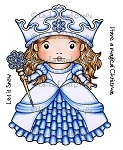 Winter Princess Marci Rubber Stamp