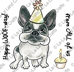 Birthday Frenchie Digi Stamp