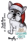 Christmas Frenchie Digi Stamp