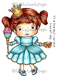 Cupcake Princess Marci Rubber Stamp