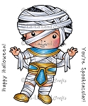 Egyptian Mummy Luka Rubber Stamp