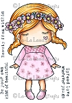 Flower Garland Paper Doll Marci Rubber Stamp