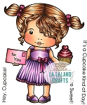 Heart Cupcake Marci Rubber Stamp