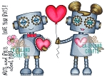 Love Robots Rubber Stamp