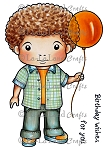 Luka with Balloon Digi Stamp