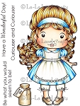 Marci in Wonderland Rubber Stamp