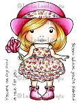 Marci with Rose Digi Stamp
