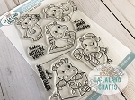 Hippo Holidays Clear Stamp Set