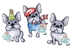 Mini Frenchies Rubber Stamp