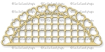 Open Hearts Doily Border Die
