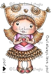 Owl Hat Marci Rubber Stamp
