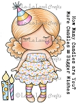 Paper Doll Marci - Birthday Rubber Stamp