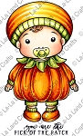 Baby Pumpkin Luka Rubber Stamp