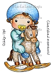 Rocking Horse Baby Luka Rubber Stamp