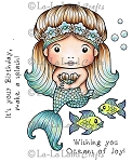 Sitting Mermaid Marci Rubber Stamp